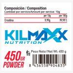 Composicion Monohidrato de Creatina 450grs neutro kilmaxx Nutrition | Suplementos deportivos de calidad a precios directos del fabricante