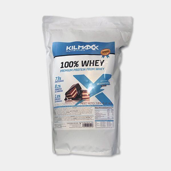 Proteina 100% Whey 1814grs Doble Chocolate Kilmaxx Nutrition