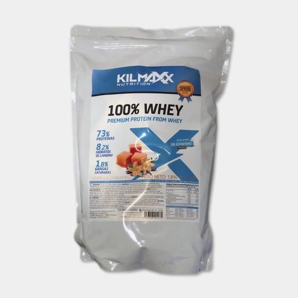 Proteina 100% Whey 1814grs Vainilla Caramelo Kilmaxx Nutrition