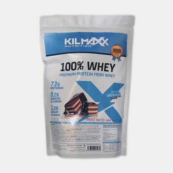 Proteina 100% Whey 454grs Doble Chocolate Kilmaxx Nutrition   Suplementos deportivos de calidad a precios directos del fabricante