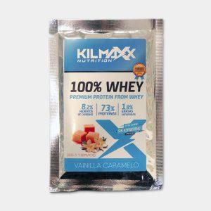Sobre Proteina Whey 30gr Vainilla Caramelo Kilmaxx Nutrition