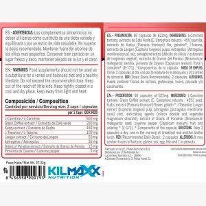 Composicion Termogénico Thermomaxxx Extreme Fat Burner Supreme 60 caps | Kilmaxx Nutrition